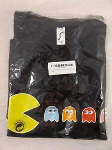 Pac Man T-Shirt Super Lemon Black Gaming Gamer Pacman Size: XXL XL M