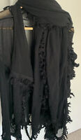 JEAN PAUL GAULTIER Vintage Black Mesh Twin Set Cardigan Wrap ONE SIZE IMMACULATE