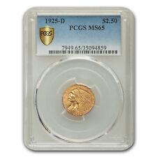 1925-D $2.50 Indian Gold Quarter Eagle MS-65 PCGS - SKU#157450