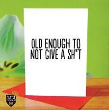 O228 HAPPY BIRTHDAY MUM DAD 40TH 50TH 60TH GREETINGS CARD RUDE FUNNY JOKE CHEEKY