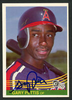 Gary Pettis #647 signed autograph auto 1984 Donurss Baseball Trading Card