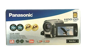 panasonic SDR-H80 60GB video camera camcorder hdd battery charger compact new
