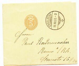 Switzerland 1893 Postal Stationery Wrapper H&G #10 Engelberg to Bonn