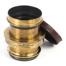 :LM Prince & Bro Rapid Hemispherical f/8 No. 327 Brass Lens [EX+++]