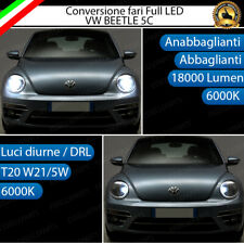 CONVERSIONE LED VW BEETLE 5C H4 ANABBAGLIANTI ABBAGLIANTI + LUCI DIURNE DRL T20