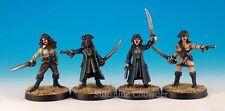 Pirate Girls #2 (4) PIR18 - Black Scorpion Miniatures - D&D Wargames Resin 32mm