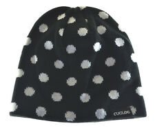 Cuglog Thor Polka Dot Knit Beanie Hat Black White