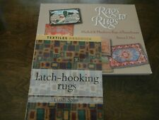 New listing 2 Books- Latch-Hooking Rugs & Rags To Rugs, 144 & 158 Pages