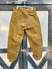 Vintage Bullseye Bill Men's Canvas Tan Hunting Workwear Pants 32 in. Waist