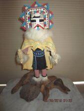 "Large 27""Vintage Hopi ""Poli-Mana"" by Paja ""THE BUTTERFLY MAIDEN"" Kachina Signed"