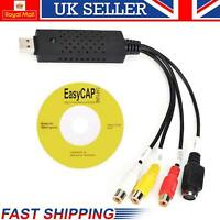 2.0 USB Video Capture Card Easycap VHS to DVD Converter Audio Adapter UK Store