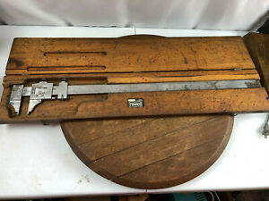 "Scherr Tumico Vernier Caliper 24"" with Wooden Case"