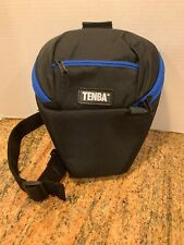 Tenba Camera or Lens Soft Pouch Bag Crossbody Black Blue 10in.X8in.