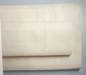 Vera Wang Ivory Stripe King Sheet Set 100% Supima Cotton Supersoft  600 thrd ct