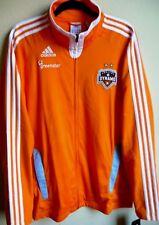 MLS Adidas Houston Dynamo Soccer Full-Zip Long Sleeve Jacket L NWT