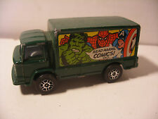 CORGI junior 1970' MARVEL Comics LEYLAND TERRIER Hulk Spiderman Voiture 3inches