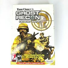 Tom Clancy's Ghost Recon Desert Siege PC Game Win 9X/2000/XP CDROM (2002)