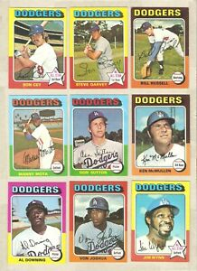 1975 TOPPS  LOS ANGELES DODGERS TEAM SET  25 CARDS  NM