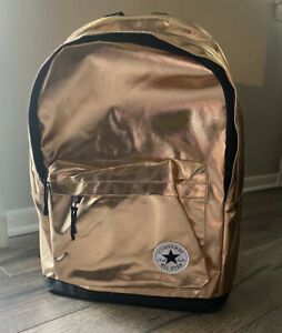 CONVERSE ALL STAR LARGE BACK PACK ROSE GOLD 4A5320-A6U BRAND NEW WITH TAGS