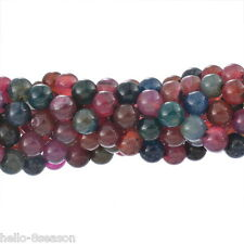 1Strand Multicolor Tourmaline Loose Beads Jewelry Making DIY Round 4mm