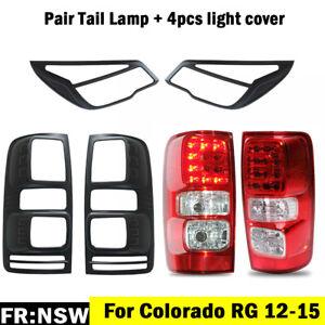 Pair LED Tail Rear Lamp Light + Cover For Holden Colorado RG 12-15 LTZ LS LT Z71