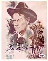 JOEL McCREA PSA DNA Coa Hand Signed 8X10 Photo Autograph Authentic