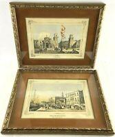 Italy Landmarks Set Hotel Royal Danieli L'Arsenal Rudolf Lesch Framed Lithograph