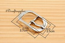 belt buckle Center Bar buckle pin buckle 3/4 inch 19 mm silver 6 pcs AT60