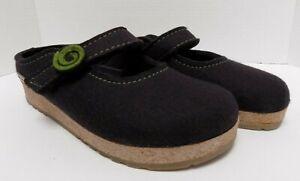 Haflinger Clogs Wool Gray Green Size 41 (US 10)