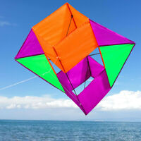 NEW 3D Stereo Baskets BOX kite stunt single line outdoor fun sports novetly kite