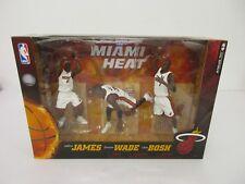 LeBron James Dwayne Wade Chris Bosh Miami Heat McFarlane Basketball 3pk NIP