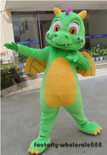 Halloween Big Green Dragon Mascot Costume Cosplay party Fancy Dress Adults size