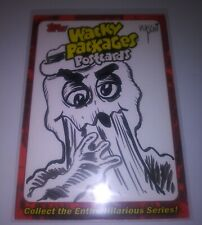 WACKY PACKAGES Postcards Series 7 Original Sketch Trading Card 2011