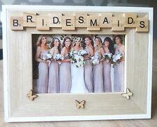 WOODEN PHOTO FRAME-BRIDESMAIDS- BUY 4 GET 1 FREE! HomeDecor,WeddingGift,Scrable