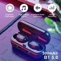 Waterproof Bluetooth Headset TWS Wireless Earphones Stereo Headphones Earbuds
