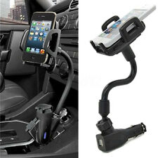 Dual USB Ports Car Cigarette Lighter Charger Mount Holder For Phone Iphone GPS