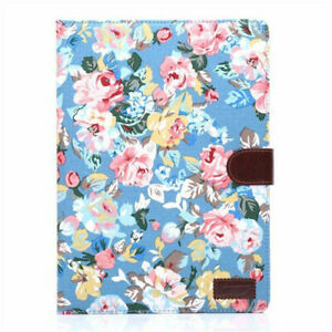 """7.9"""" 9.7""""10.5"""" Floral Leather Wallet Stand Folio Flip Case Cover For Apple iPad"""