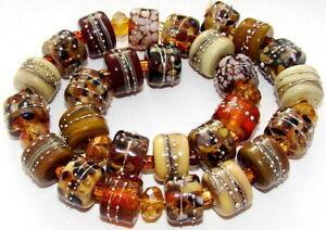 "Sistersbeads ""Tortoise Shell"" Handmade Lampwork Beads"