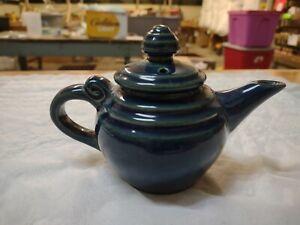 Vintage Dickota Pottery Cobalt Blue One Cup Teapot No Damage Bottom Marked
