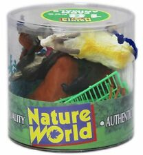 18 Plastic Farm Animals Kids Toys Party Bag Playset Action Figure Education Toy