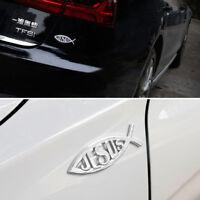 1Pair 3D Chrome Emblem Jesus Christian Fish Symbol Decal Badge Car Truck SUV