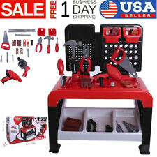 Toddler Boy Toy Tool Set Box Workbench Pretend Play Girl Kid Drill 22.6inch Game