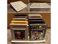 Nintendo Game Boy GB GBC GBA Tiered Game Cartridge Stand Holds 10 Game Cartridge