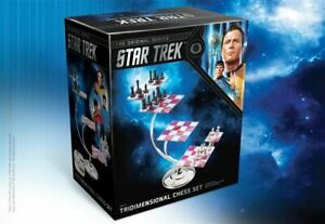 Star Trek TOS Official Licensed Tridimensional Chess Set acrylic Game Boards New