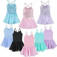 Girls Gymnastics Ballet Leotard Tutu Dress Ballerina Dance Wear Outfit Costume