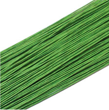 50PCS Green #22 Paper Covered Wire DIY Nylon Stocking Flower Making