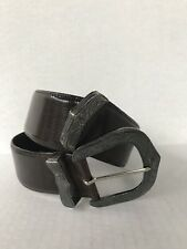 J&M Davidson Womens Wide Leather Belt Antique Buckle Size S 32 Pre-owned