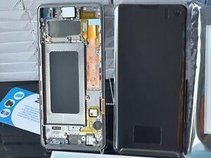 GENUINE SAMSUNG GALAXY S10 SM- G973F SILVER LCD SERVICE PACK NEW ORIGINAL SCREEN