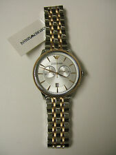 (M) EMPORIO ARMANI ROSE GOLD & SILVER CHRONOGRAPH WATCH AR1826 NEW WITH TAG