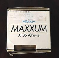 Minolta Maxxum AF35-70MM 35-70/3.5-4.5 MINOLTA AF MAXXUM Brand New with Box